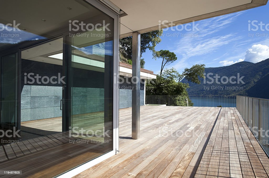 beautiful penthouse stock photo