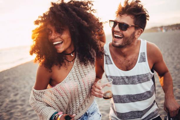 Beautiful people having fun - foto stock