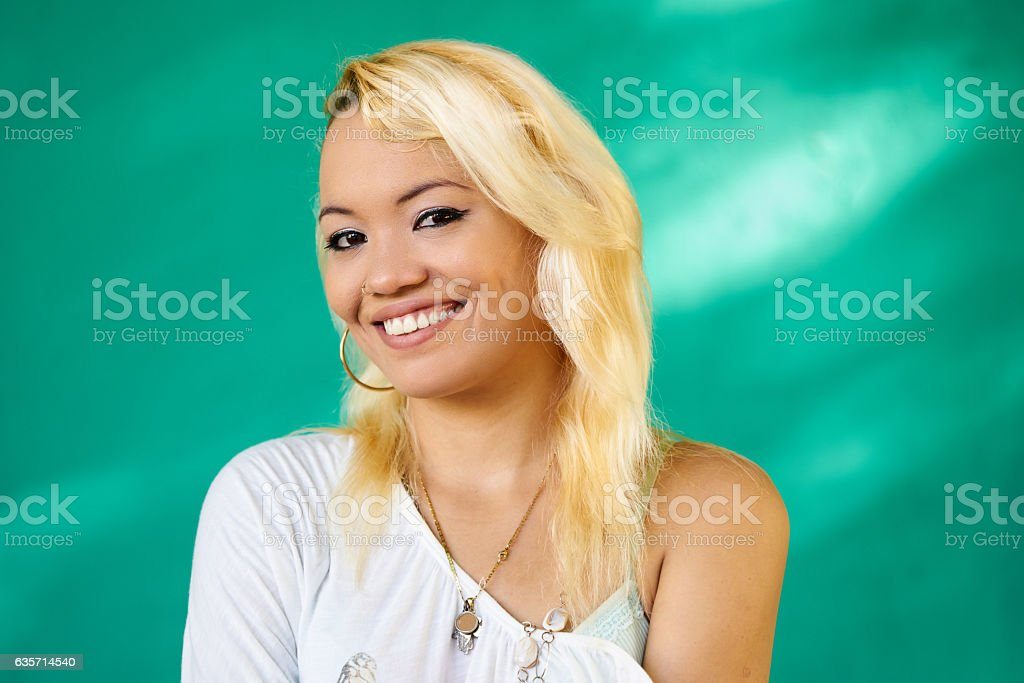 Beautiful People Portrait Happy Pretty Latina Girl Laughing royalty-free stock photo