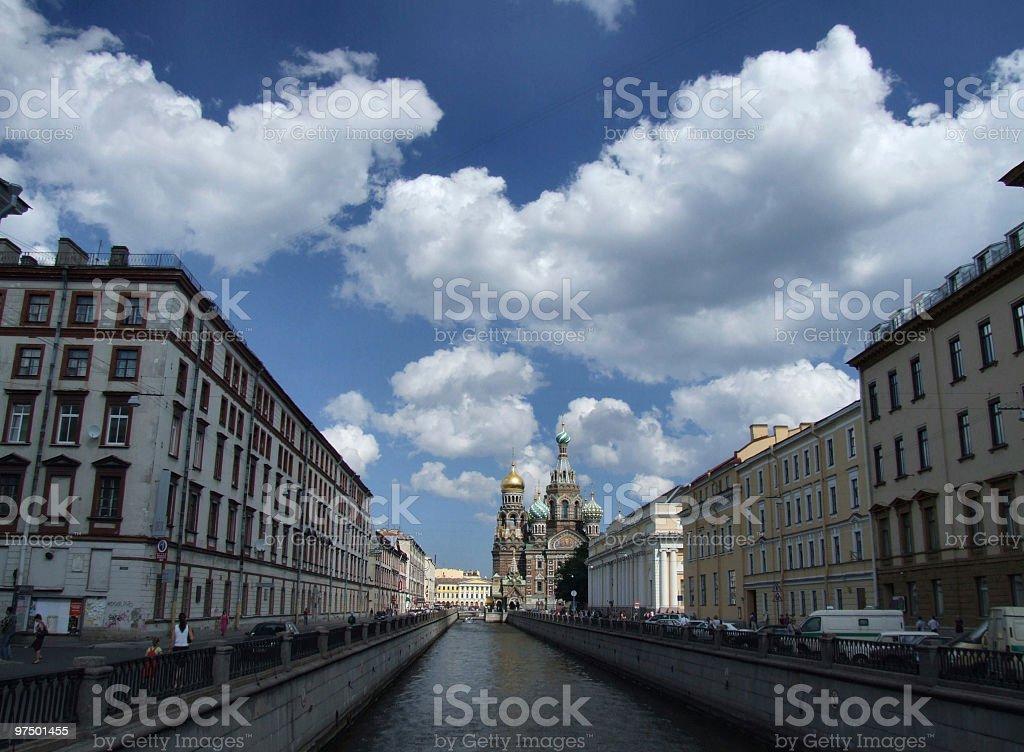 Beautiful Petersburg cityscape royalty-free stock photo
