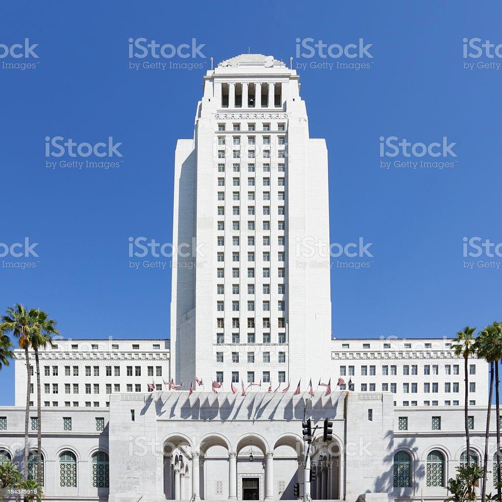 Beautiful photo of Los Angeles City Hall royalty-free stock photo