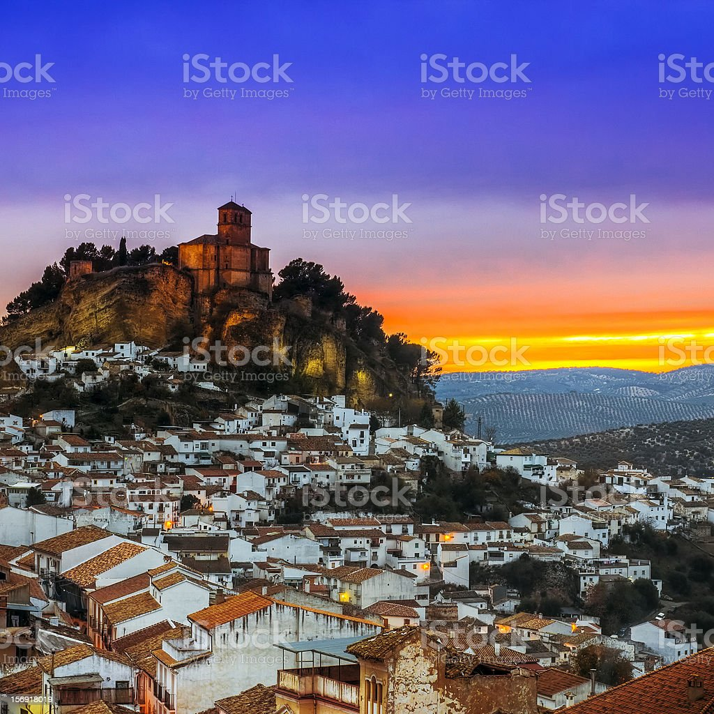 Beautiful photo of Montefrio in Granada, Spain stock photo