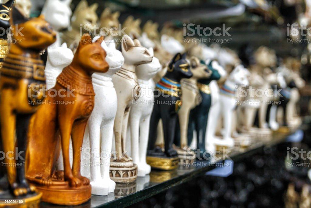 Beautiful photo of souvenir shops in the Arab quarter . stock photo