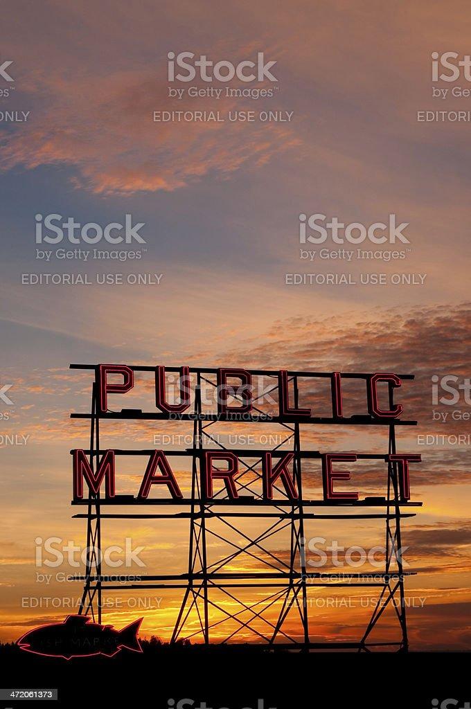 Beautiful Pike Place royalty-free stock photo