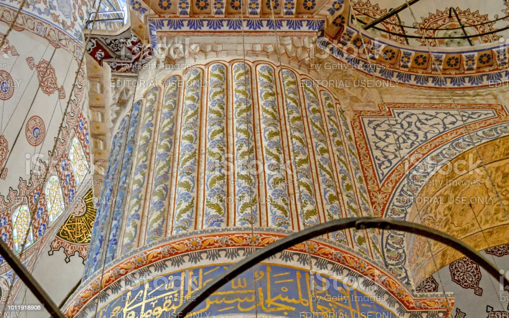 A Beautiful Pillar Decoration With Handmade Ceramic Tiles Inside Blue Mosque In Istanbul Turkey Stock Photo Download Image Now Istock