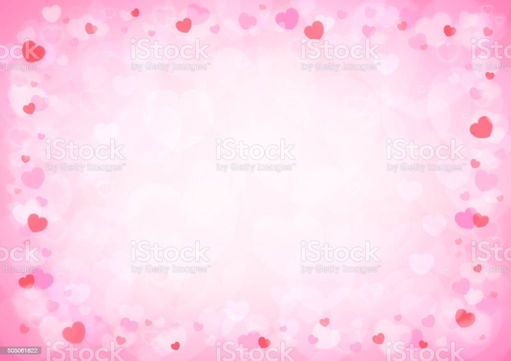 Beautiful Pink Hearts Bokeh For Valentine Background, Love Concept  Royalty Free Stock Photo