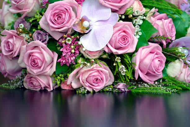 Schöne Rosa rose bouquet – Foto