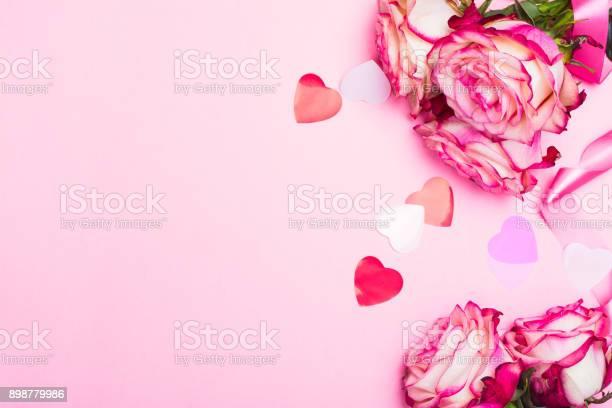 Beautiful pink rose decorative confetti hearts and pink ribbon on picture id898779986?b=1&k=6&m=898779986&s=612x612&h=hoylhenbixawizyd6 l1luzlelfw9ycpngi2cgttgqe=