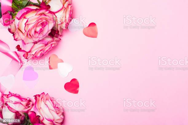 Beautiful pink rose decorative confetti hearts and pink ribbon on picture id901945028?b=1&k=6&m=901945028&s=612x612&h=mzhzhvz bmro41qzce 9dcuwzxzrqmj363xaegni5do=