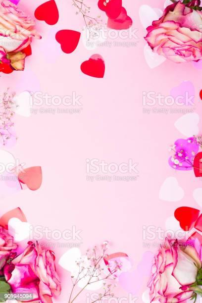 Beautiful pink rose decorative confetti hearts and pink ribbon on picture id901945094?b=1&k=6&m=901945094&s=612x612&h=ovj37zlc7endwrsufv5m00ulxycs8u0z nochrsmune=