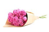 美しいピンクのバラ白に隔てられた
