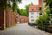 A beautiful place for walking and relaxing in the old town of Memmingen, Germany.
