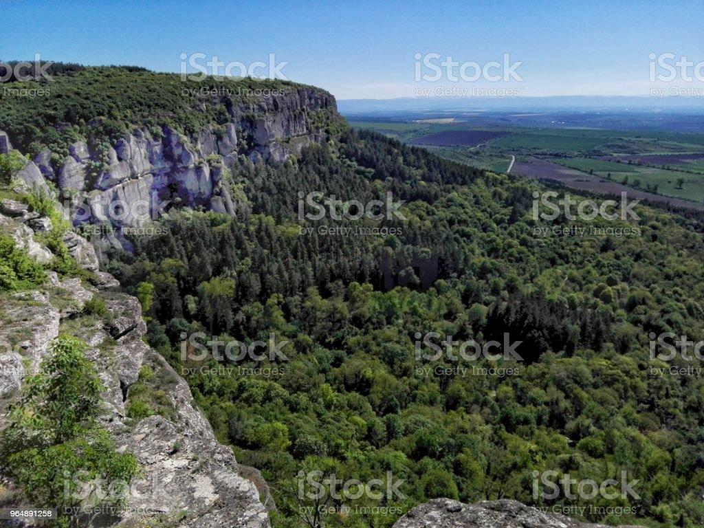 beautiful place - panorama photo from Madara, Bulgaria royalty-free stock photo