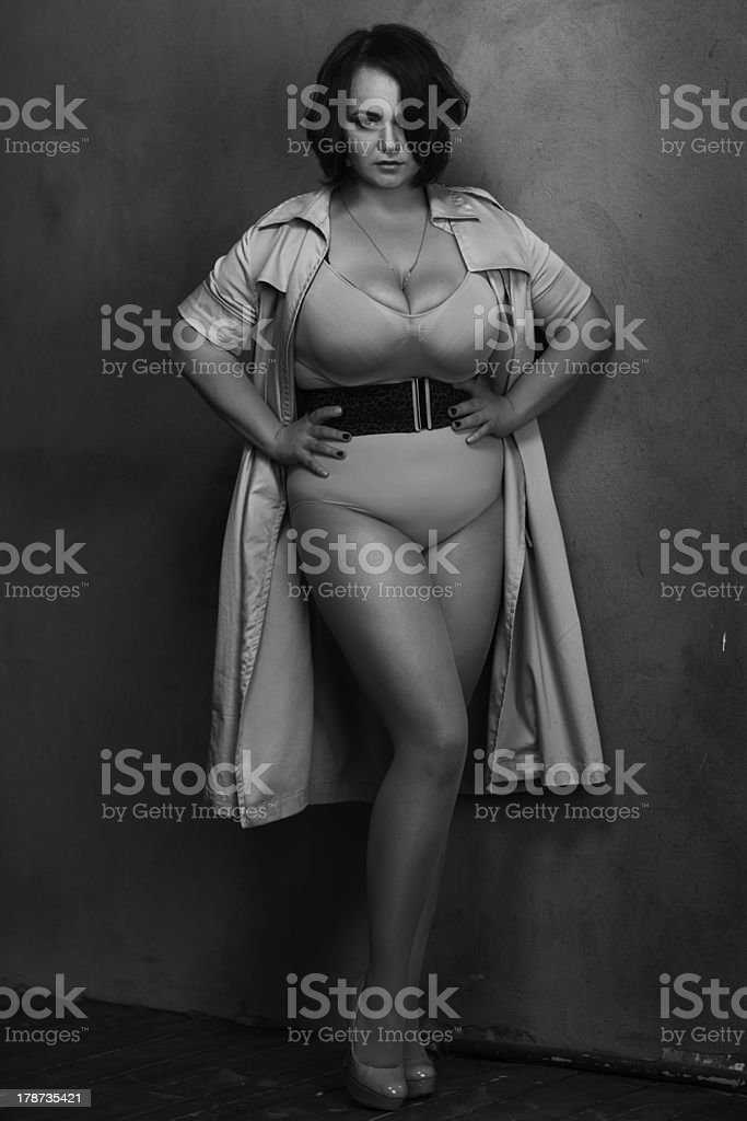 Beautiful plus size model stock photo