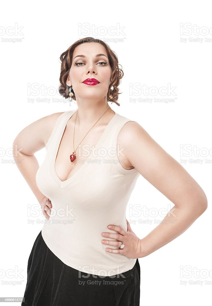 Beautiful plus size woman stock photo