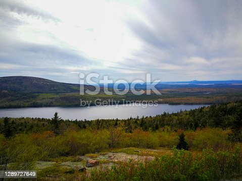 Beautiful Pond in valley at Acadia National park, Maine, USA