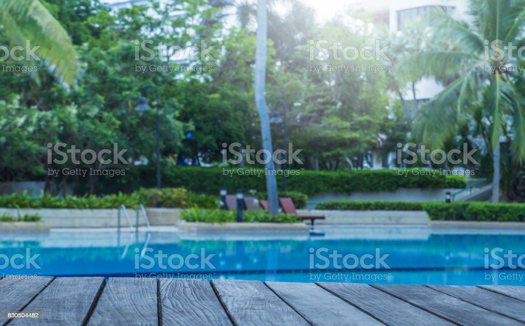 Beautiful pool stock photo
