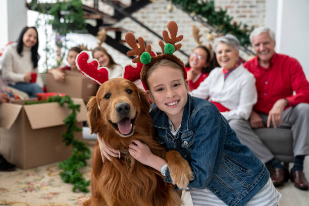 Beautiful portrait of a happy girl and her dog celebrating christmas picture id1165432360?b=1&k=6&m=1165432360&s=612x612&w=0&h=4bro0idp zsdf89ogoig3c1vjkxyfs904qn866u w0i=