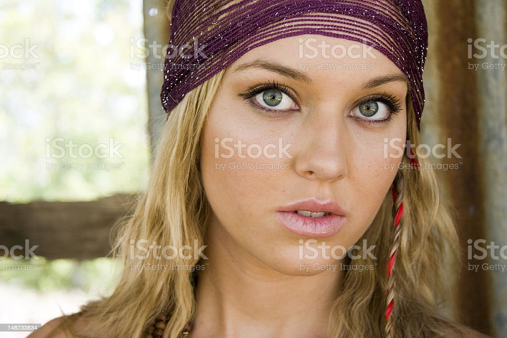 beautiful portrait of a woman royalty-free stock photo