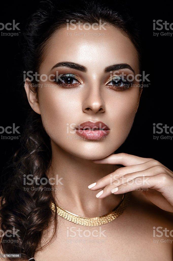 Beautiful portrait of a woman. stock photo