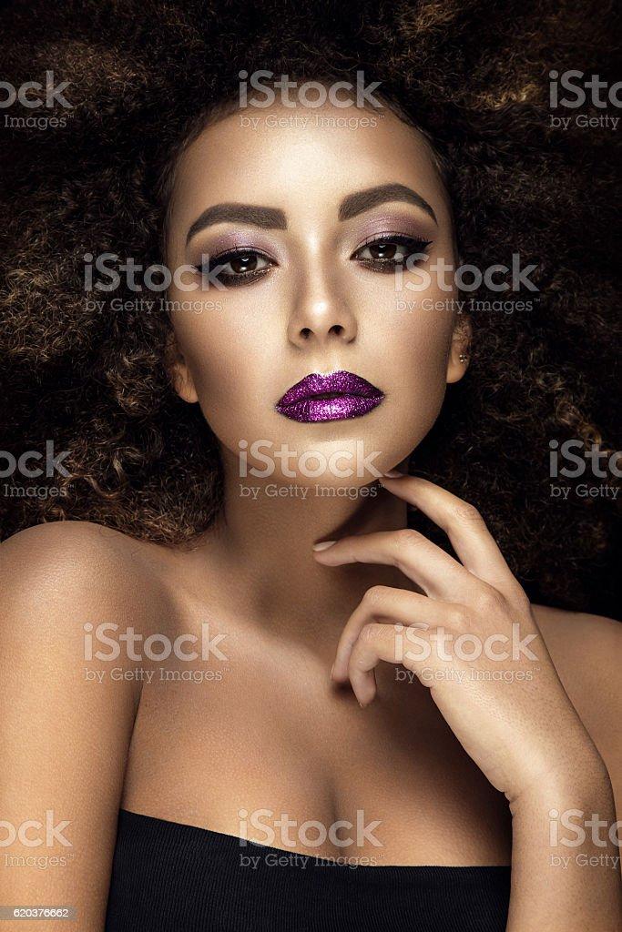 Beautiful portrait of afro woman. foto de stock royalty-free
