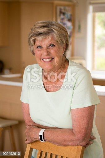 Schönes Porträt Von Hübschen Und Süßen Senior Reife Frau