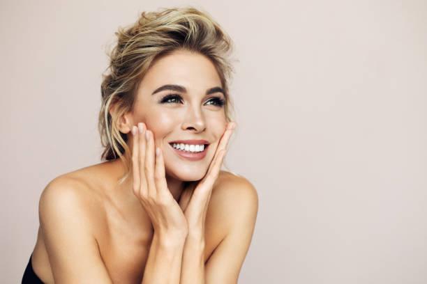 Beautiful portrait of woman stock photo