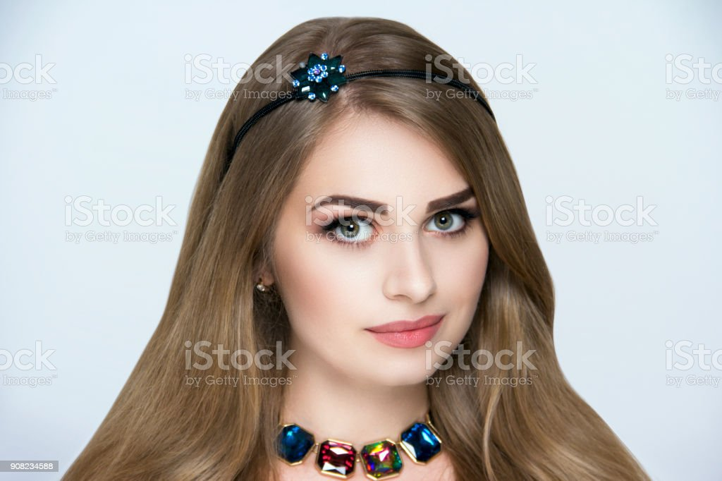 beautiful portrait stock photo