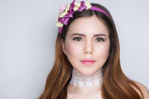beautiful portrait woman - diadem stock pictures, royalty-free photos & images