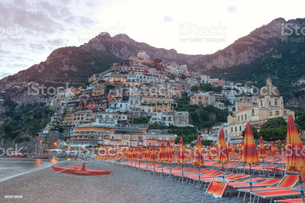 Wunderschöne Positano, Amalfiküste, Italien - Lizenzfrei Amalfi Stock-Foto