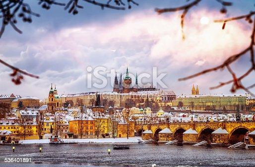 istock Beautiful Prague in winter 536401891