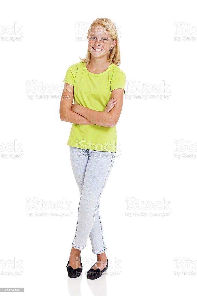 beautiful pre teen girl stock photo