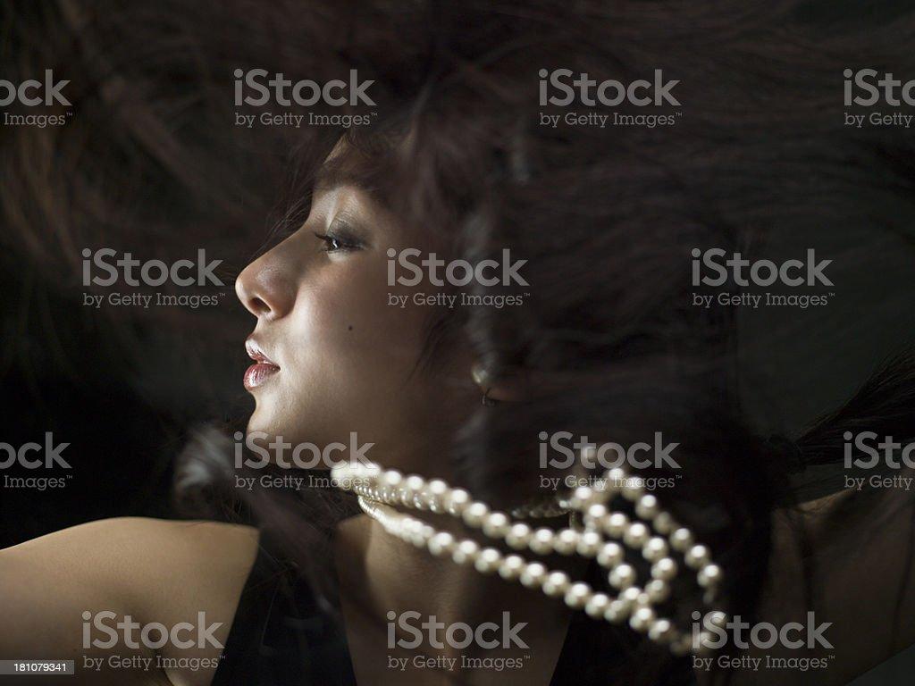 Beautiful profile royalty-free stock photo