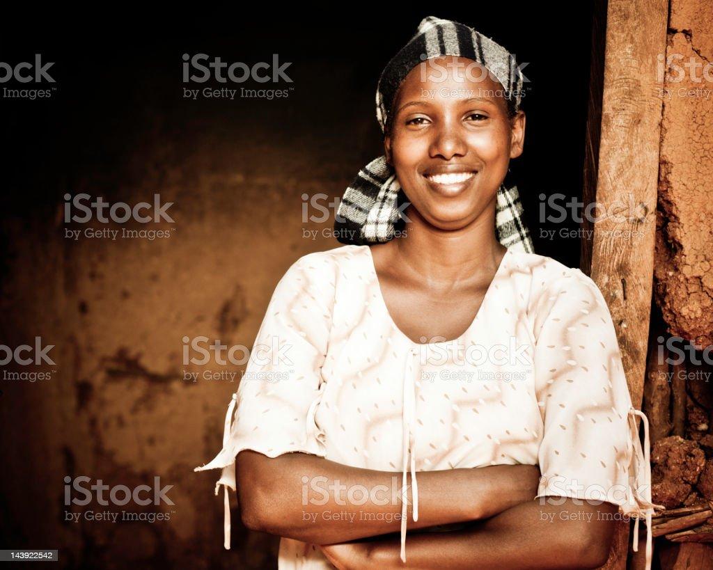 Beautiful Proud African Woman stock photo