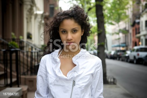 istock Beautiful Puerto Rican Young Woman Portrait, New York City 157334731