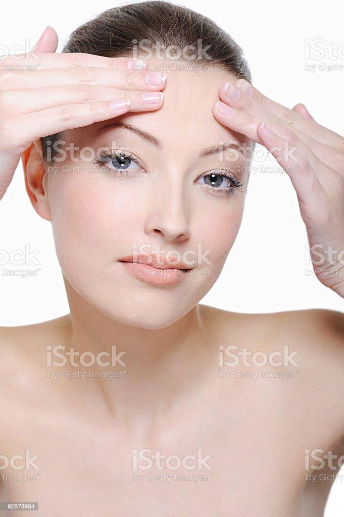 beautiful pure skin royalty-free stock photo