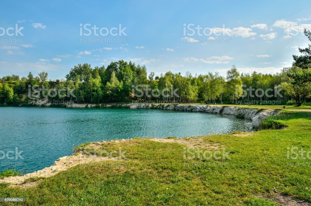 Beautiful quarry with water.
