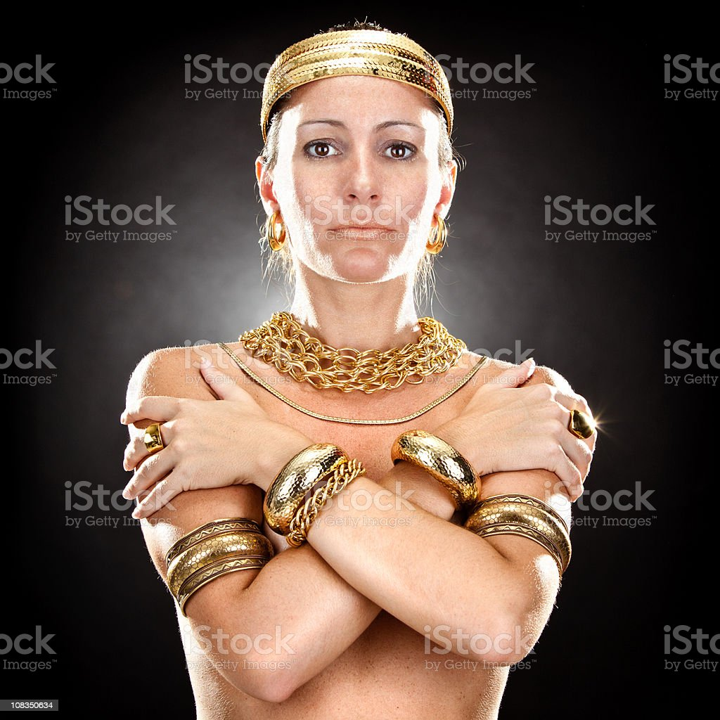 beautiful queen of ancient egypt royalty-free stock photo