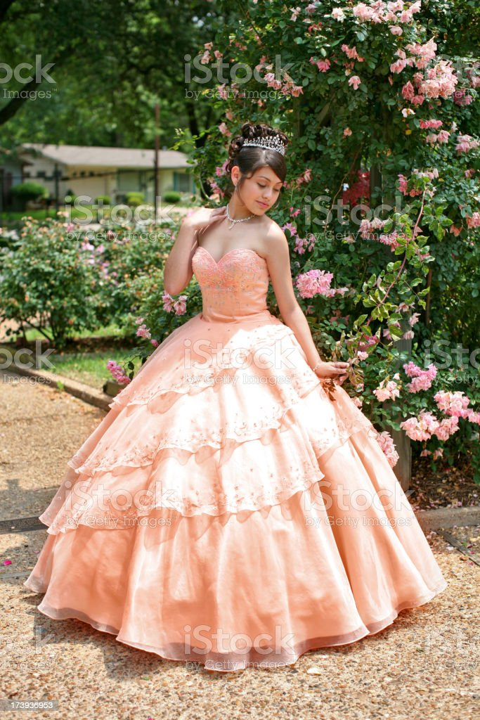Beautiful Quinceanera royalty-free stock photo