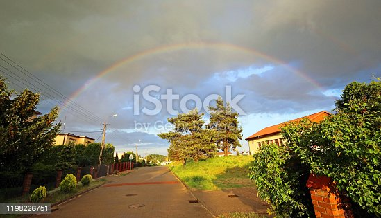 A beautiful rainbow after the storm