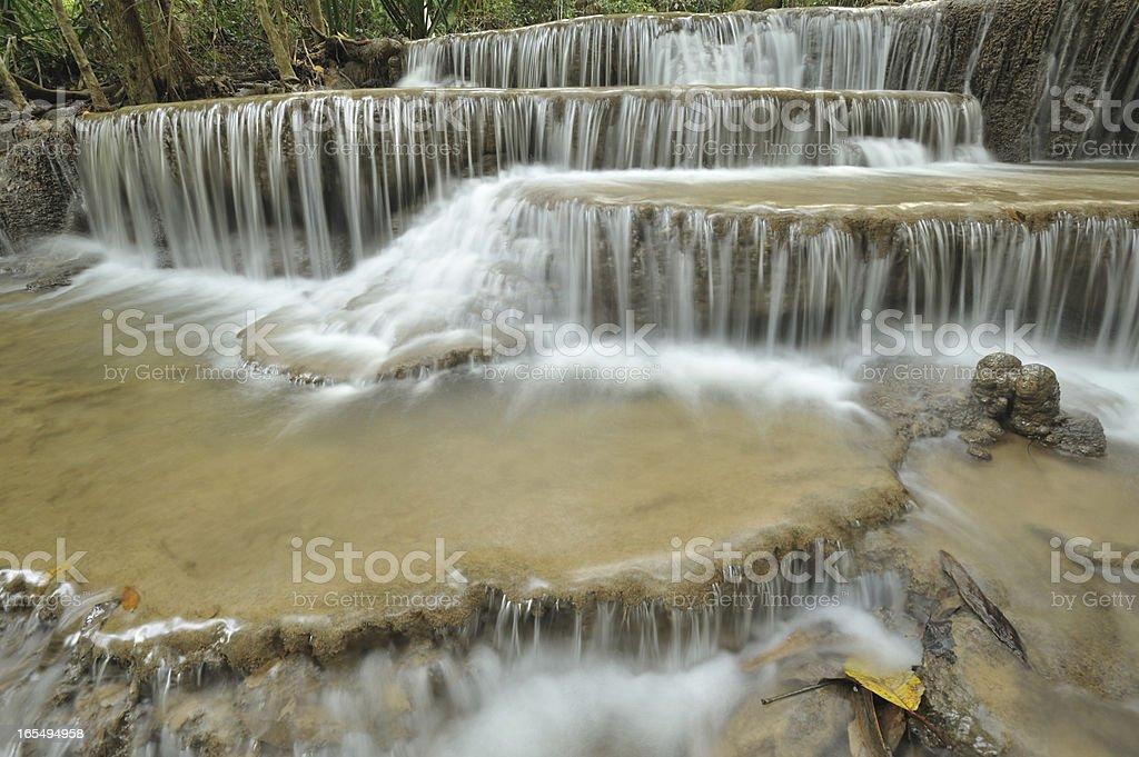 Beautiful rainforest waterfalls royalty-free stock photo