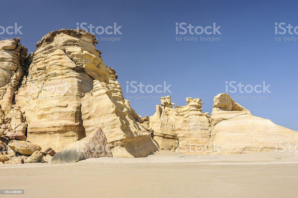 Beautiful Ras al-Jinz beach stock photo