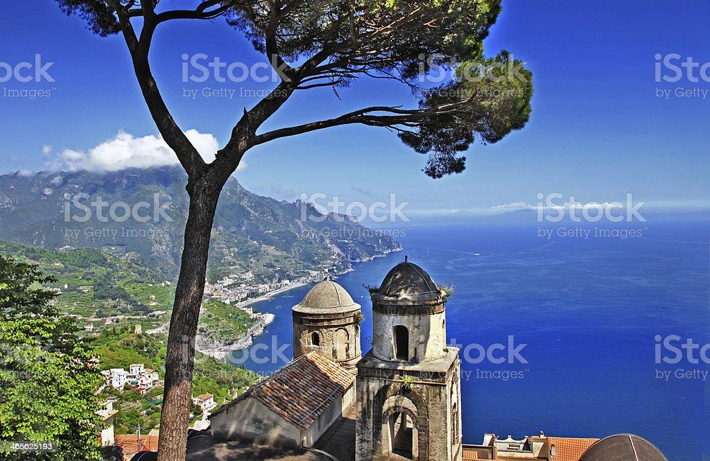 beautiful Ravelo village, Amalfi coast royalty-free stock photo