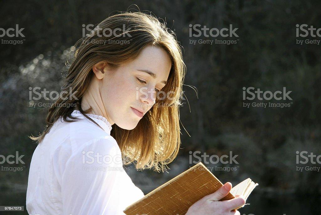 beautiful reading royalty-free stock photo