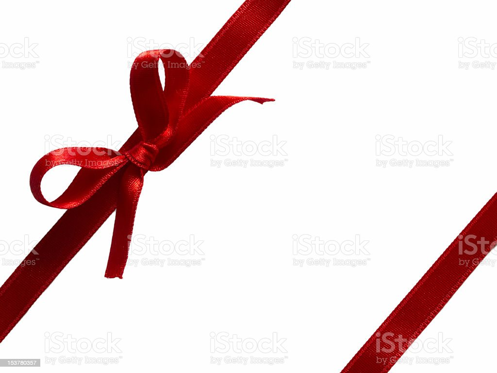 beautiful red bow isolated on white royalty-free stock photo