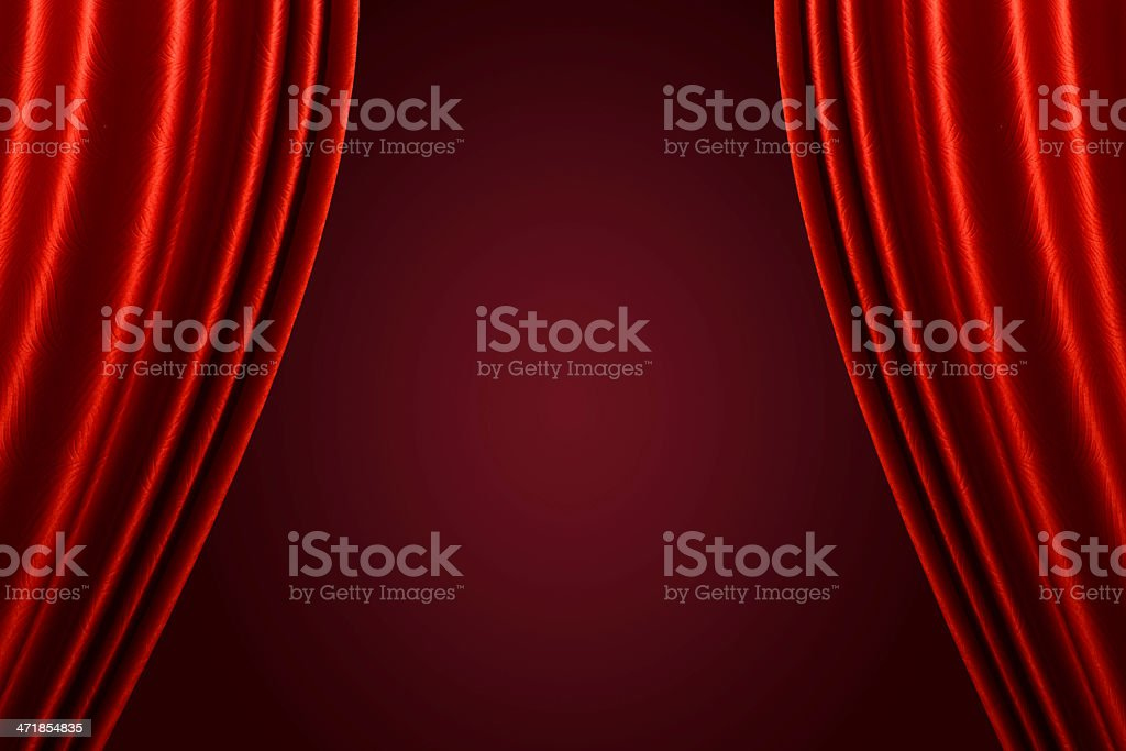 Beautiful red curtain background. royalty-free stock photo