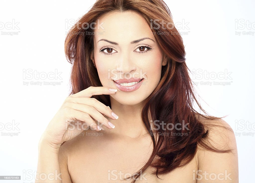 Beautiful red hair woman. royalty-free stock photo
