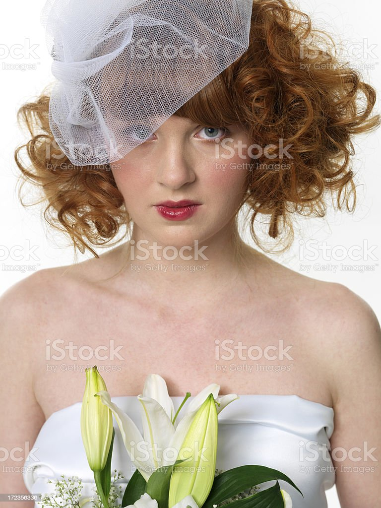 beautiful red haired bride royalty-free stock photo