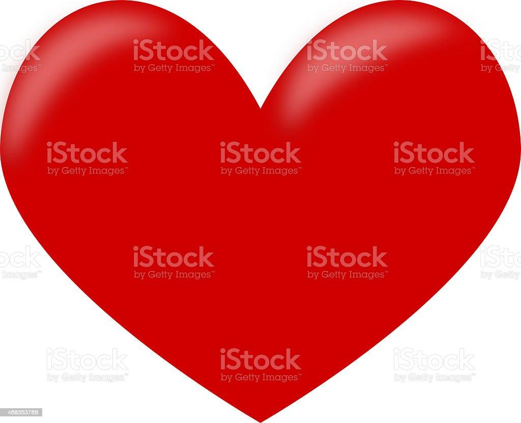 Beautiful red hart royalty-free stock photo