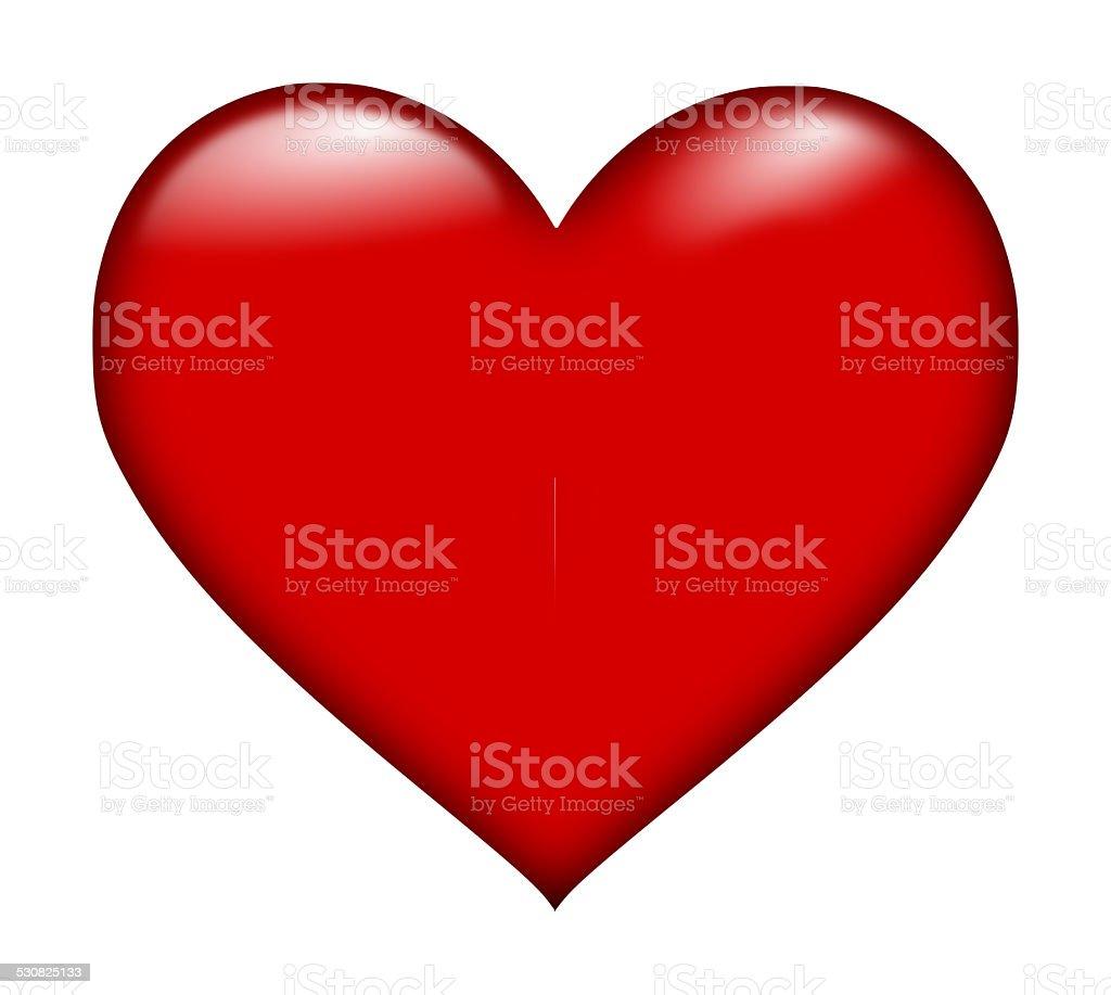 Beautiful red hart, red heart stock photo